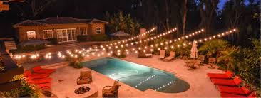 Backyard String Lighting Ideas Backyard String Light Suspension Kit Diy Outdoor String Lights
