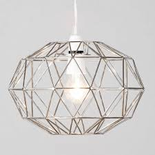 cl on light bulb shade metal easy fit wire frame oval cage ceiling light shade in chrome