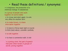 Synonyms For Light Vocabulary And Concept Development Edi Standard 1 4 Students Will