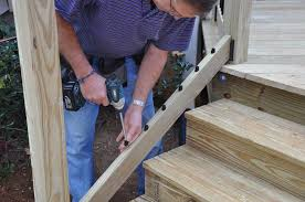 How To Put Up A Handrail Decks Com Deck Stair Railings
