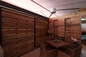 Wooden Interior 90 Sqm Affordable House Design With Unique V Shaped Ceiling