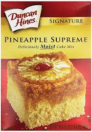 amazon com duncan hines signature cake mix pineapple supreme