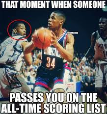Allen Iverson Meme - nba memes on twitter yesterday ray allen passed allen iverson for