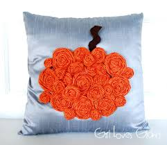 rosette pumpkin pillow tutorial loves glam