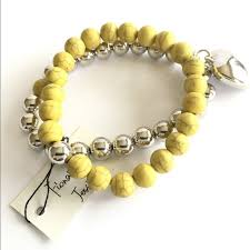 silver bracelet with heart charm images Jewelry yellow and silver bracelet with heart charm poshmark jpg