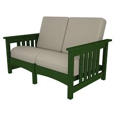 Mission Style Loveseat Polywood Deep Seating Club Mission Loveseat Luxury Outdoor