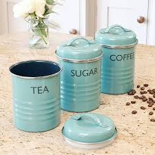 blue kitchen canister set tea time box sugar canister tea coffee sugar canisters