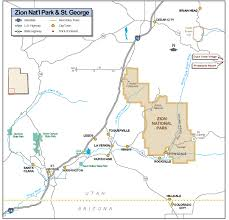 map of zion national park zion national park highway map zion national park mappery