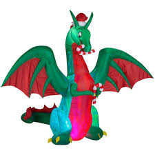 home depot inflatable christmas decorations home accents holiday 9 ft h inflatable holiday dragon building