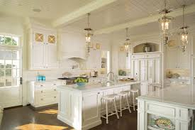 Island Kitchen Designs Duvall Creek Classic White Kitchen Featuring Double Island