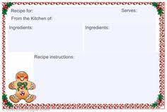 free printable christmas recipe cards recipe card 4x6 christmas