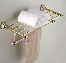 Bathroom Accessories Stores by Wholesale Retail Luxury Bathroom Golden Wall Mounted Towel Racks