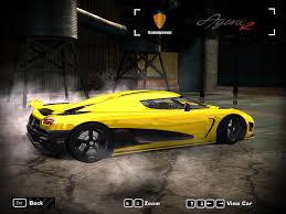 koenigsegg car from need for speed need for speed most wanted koenigsegg agera r ii nfscars