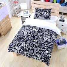 Paisley Duvet Cover Set Black And White Bedding Paisley American Flag Bedding Skull