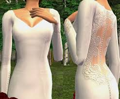 mod the sims bella u0027s wedding gown