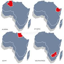 3d africa map vector africa 3d map stock vector image of area emblem background