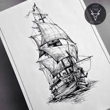 sketch art pencil drawings tag ship archives tattooflashes org