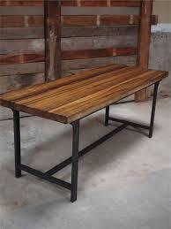 plateau de bureau bois chic bureau bois massif table ou bureau metal industriel militaire