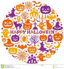 Happy Halloween Icons Halloween Icons In Circle Illustration 56134217 Megapixl