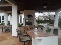 outdoor living space bbq and fireplace expert design