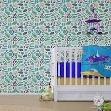 nursery baby kids stencils for walls cute nursery decor ideas