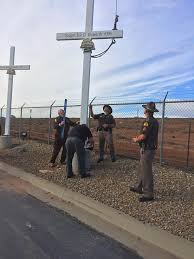 roadside memorial crosses for sale dats trucking sets 15th memorial cross for uhp trooper on property