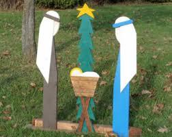 handmade outdoor nativity set etsy