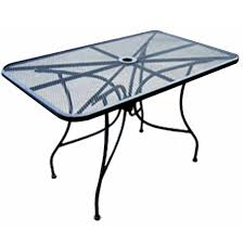 Steel Patio Table All About Furniture Omt3636 Steel Mesh Patio Table 36 Square