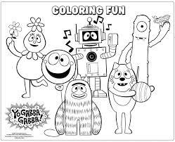 yo gabba gabba coloring pages art exhibition yo gabba gabba