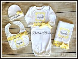 monogram baby items yellow jpg