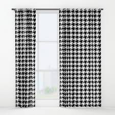 Black And White Window Curtains Black And White Alabama Pattern Of Alabama Crimson Tide