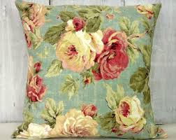 Shabby Chic Pillow Covers by Green Floral Pillow Etsy