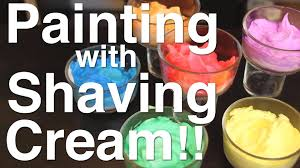 painting with shaving cream part 1 youtube