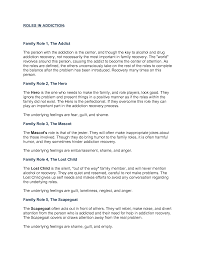 17 best images of dysfunctional family roles addiction worksheet
