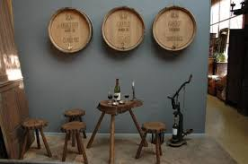 Wine Tasting Table Antique French Small Tree Trunk Wine Tasting Table And 4 Stools