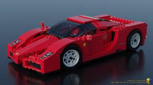 ferrari lego artstation lego racers 8652 enzo ferrari 1 17 renderbricks