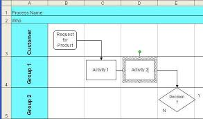 Excel Swimlane Template Excel Drawing Toolbar Select Objects 2007 2016