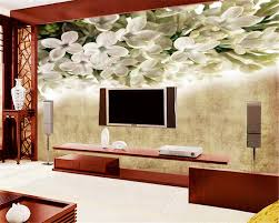 popular lilac wallpaper buy cheap lilac wallpaper lots from china beibehang 3d photo wall mural wallpaper retro lilac flower white flower bedroom living room sofa tv