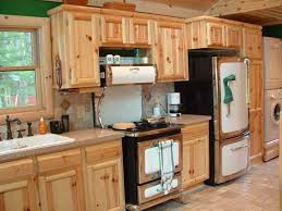 the placement of the pine wood furniture in the kitchen will add