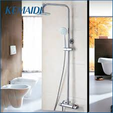 online get cheap thermostatic shower aliexpress com alibaba group kemaidi thermostatic shower set shower head handle bathroom faucets bath thermostatic faucet chrome finished thermostatic mixer