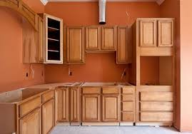 contemporary burnt orange kitchen cabinets appliances with white