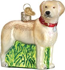 world standing yellow labrador retriever glass tree