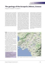 Map Of Athens Greece by The Geology Of The Acropolis Athens Greece Pdf Download Available