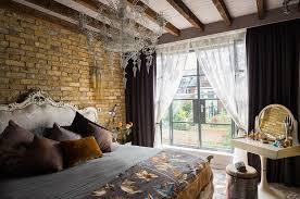 Bedroom Chandeliers Neo Baroque Bedroom With Brick Wall And Chandelier Ideas Eva