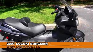 used 2007 suzuki burgman 650 for sale youtube