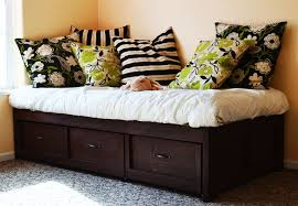 bedroom stunning ana white daybed with storage trundle drawers