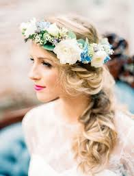 hair flower 10 flower crown hairstyles for any mywedding