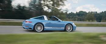 blue porsche 911 porsche 911 targa 4s exclusive design edition