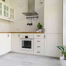white kitchen cabinets floors pros and cons of marble flooring in kitchens