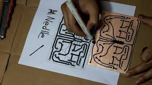 hand drawing pcb youtube